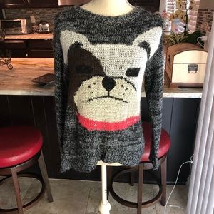 Cozy sweater with Dog face